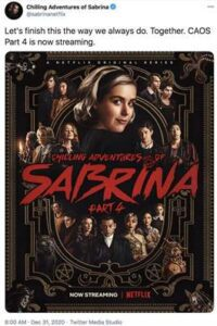 Chilling Adventures of Sabrina: Part 4 [Hindi 5.1] Dual Audio [ S04 All Episodes] | WEB-DL 1080p / 720p/ 480p [HD]